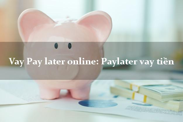 Vay Pay later online: Paylater vay tiền từ 18 tuổi
